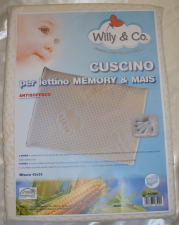CUSCINO PER LETTINO IN MEMORY & MAIS WILLY & CO